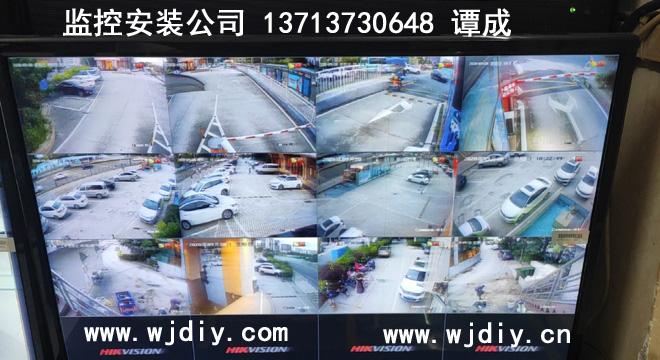 維也納國際酒店(深圳福城觀悅店)外圍車場安裝監控裝攝像頭