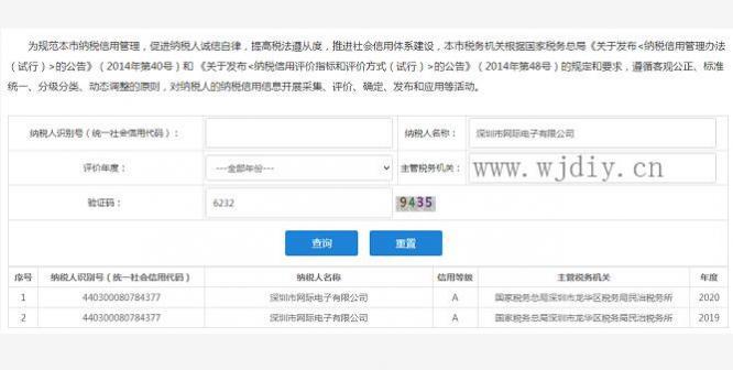 深圳市網際電子有限公司2019/2020評為A級納稅人.jpg